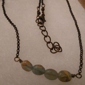 """Jewelry - Turquoise """"beans"""" necklace"""